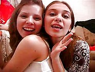Two Naughty Non Nude Brunette Teens Teasing And Touching