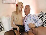 Sexy Nataly Von Is Rubbing Her Clit While Riding Hard Dick Like