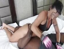 Wenona Grapples Against Black Wimpy Guy
