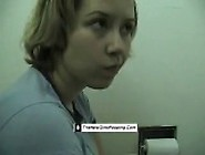 Girl Pooping And Farting On Toilet