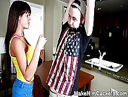Nasty Brunette Gave A Call To Her Lover And Got Fucked In Front