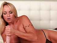 Big Boobed Blonde Mature Jerks Big Cock