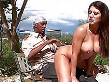 Big Milf Boobs And A Tight Gash Pleasure His Black Dick