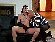 Hot Sex With A Sexy Girl Covered In Baby Oil Makes Him Cum