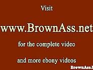 Bigbutt Busty Ebony Jizzed On During Ffm