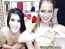 Amigas Transexuales Juegan Desnudas En La Cámara
