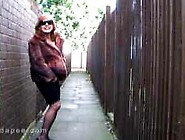 Mature Piss In Alley