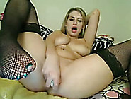 Self Confident Beauty In Black Stockings Is Masturbating For Me