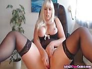 Hot Amateur Blonde Bbw Masturbates To Orgasm Hard