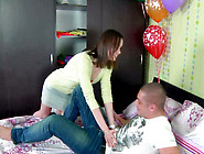 Russian Hoe Lola Is Getting Her Pussy Polished At Her Birthday