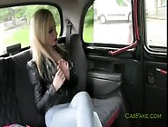 Huge Hooters Blonde Pussy Licked In Fake Taxi
