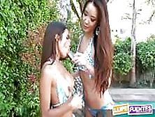 Lupe Fuentes En Haar Aziatische Vriendin