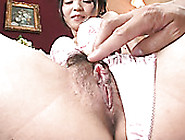 Filthy Japanese Brunette Konoha Gets Her Fluffy Pussy Pleased Wi
