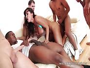 Lisa Ann Enjoys Filthy Hot Interracial Gangbang Fucking