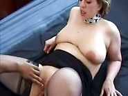Chubby Blonde Milf With Black Guy Sucks His Cock And Gets Her Pu