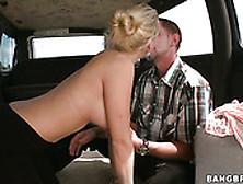 Kinky Blonde Hoe Mercedes Monroe Gives A Blowjob To A Stranger F