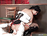 Appetizing Bootyful Slut Rides Hard Pole And Sits On Dude's Face
