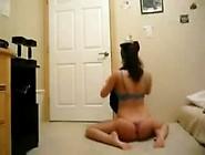 Cute Arab Brunette Dancing On Webcam