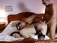 Two College Girls Bring A Guy To Their Hotel Room For A Threesom