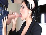 Hot Amateur Giselle Eats Fresh Cum