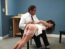 Brunette Takes Otk Spanking