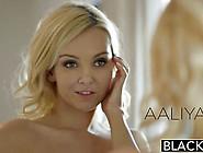 Gorgeous Blonde Aaliyah Love Sucks On A Juicy Black Cock