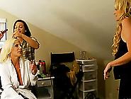 Blonde Porn Star With Massive Tits Enjoying A Hardcore Threesome
