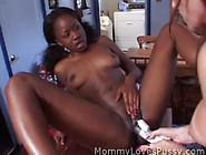 A Slutty Lesbian Milf With A Shy Ebony Teen!