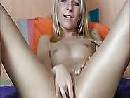 Sweet Blonde Is Rubbing Her Perfectly Shaved Pussy And Squirting