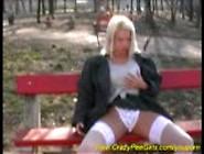 Blonde Girl Peeing In Public