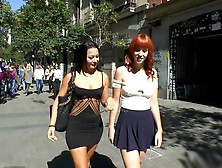 Redheaded Slut Beautifully Disgraced On Streets Of Madrid - Free