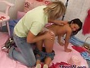 Hot Oily Ebony Teen First Time Monica Gets A Yam-Sized Facial