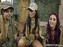 Jasmine Jae And Her Girls Are Kneeling In Front Of A Guy And Exp