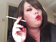 Bbw Smoking 120 Cigs With Nose & Cone Exhales Drifts Fetish