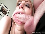 Milf Opens Mouth So He Can Deepthroat Facefuck Her