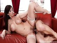 Hot Mommy Syren De Mer Rides Young Guy