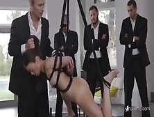 Tiffany Doll Playing A Submissive Girl In A Fetish Gangbang