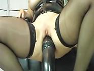 Amateur Slut Riding Giant Dildo