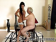 Teen Sucking Old Man For Cum But The Gal Is Highly Forgiving