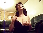 Breasty Aged Rubs Her Bawdy Cleft During The Time That Hubby Jac