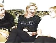 Horny Women Handfisting Cunts On Sofa