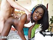 Ebony Ana Foxxx Plays Video Game With Huge Cock In Her Pussy