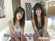 Sweet Ebony Lesbo Student Couple Toying Each Other