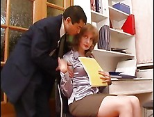 Mature Woman Seduced In The Office