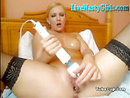 Hot Uk Bitch Squirts On Webcam Hitachi