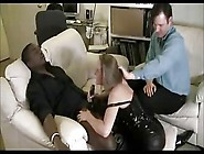Interracial Wife Cuckold Blowjob