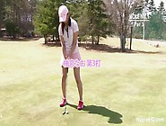 Teenie Golfer Gets Her Pink Drilled On The Green!