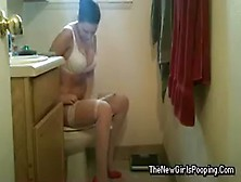 Girl Pooping On The Toilet