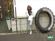 Petite Beth Gets Her Wet Pussy Pounded At The Boxing Ring For A