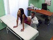 Hot Brunette Patient Gets Fucked From Behind In The Table And Re